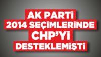 AK PARTİ BALIKESİR'DE 2014 SEÇİMLERİNDE CHP'Yİ DESTEKLEMİŞTİ