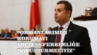 """""""ORMANLARIMIZI KORUMAYI MİLLİ SEFERBERLİĞE DÖNÜŞTÜRMELİYİZ"""""""