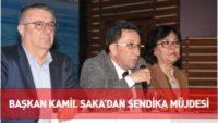 Başkan Kamil Saka, personelle bir araya geldi
