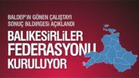 BALIKESİRLİLER FEDERASYONU KURULUYOR