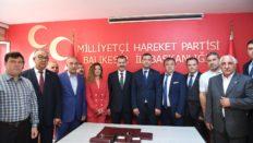 AK PARTİ HEYETİNDEN MHP'NİN YENİ İL BAŞKANI'NA ZİYARET