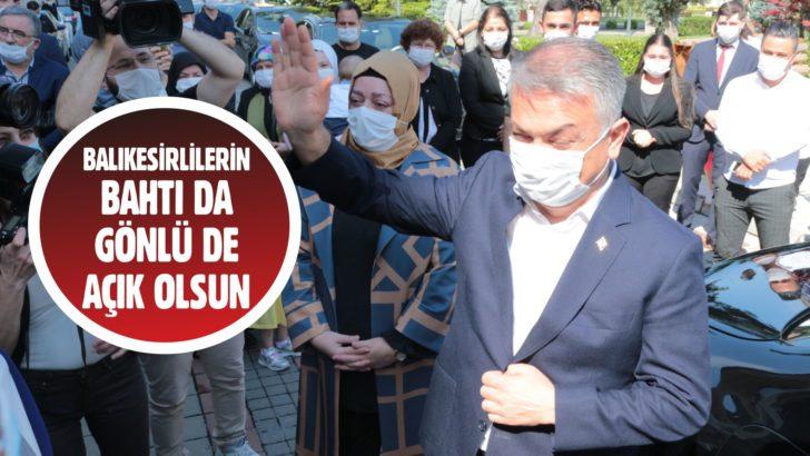 BALIKESİR PROTOKOLÜ ERSİN YAZICI'YI ANTALYA'YA UĞURLADI