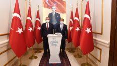 BURSA VALİSİ CANBOLAT, BALIKESİR VALİSİ HASAN ŞILDAK'I ZİYARET ETTİ